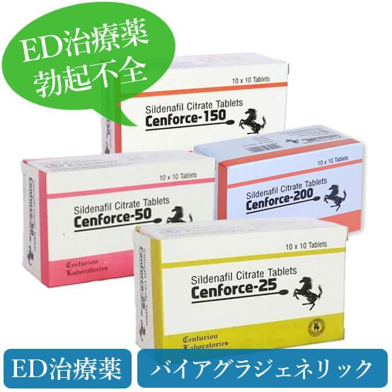 センフォース25mg/50mg/100mg/150mg/200mg(cenforce)