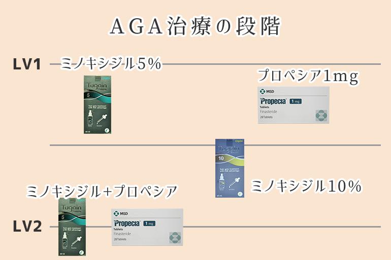 AGA治療の段階