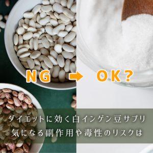 ダイエットに効く白インゲン豆サプリ、気になる副作用や毒性のリスクは…